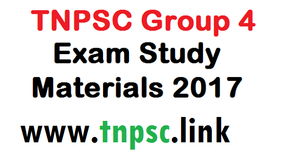 TNPSC Group 4 Exam Study Materials - tnpsclink