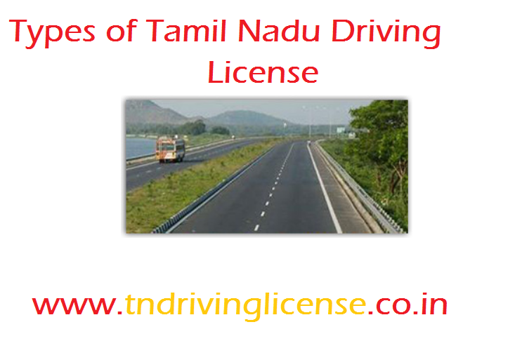 Types of Tamil Nadu Driving Licence