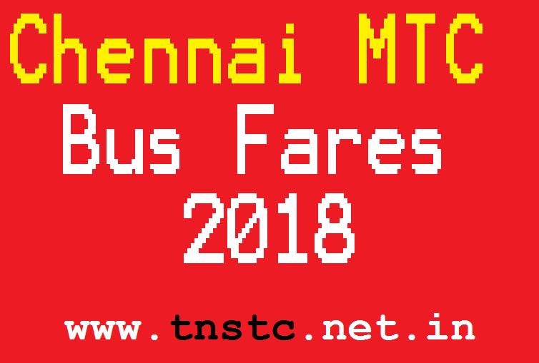 chennai mtc bus fares 2018 - tnstc-net-in
