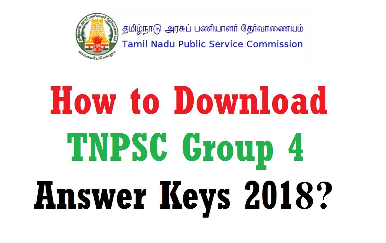 tnpsc group 4 answer key 2018 download