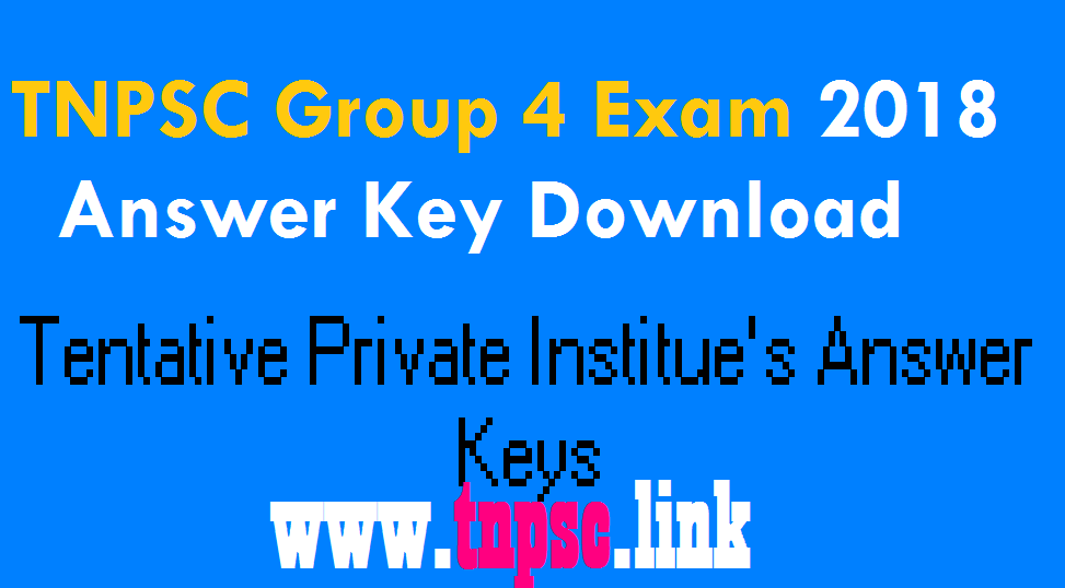 tnpsc group 4 answer key 2018 - tnpsclink