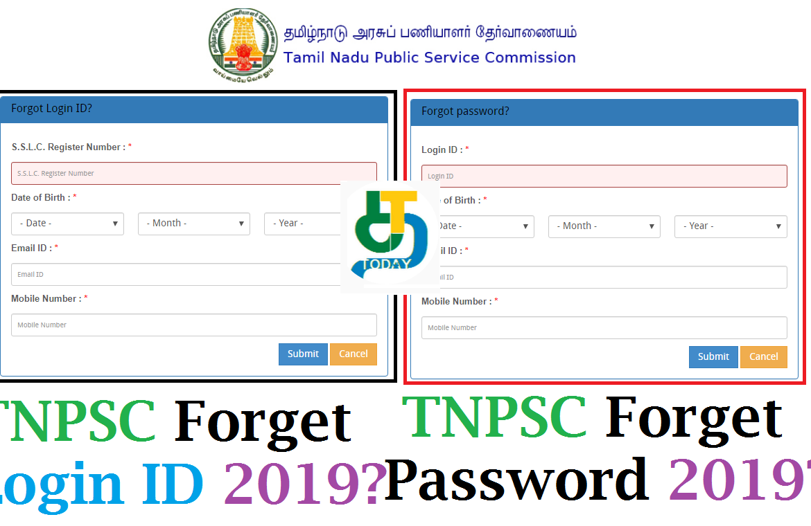How to Recover TNPSC Forget Login ID 2019 -TNPSC Forget Password 2019