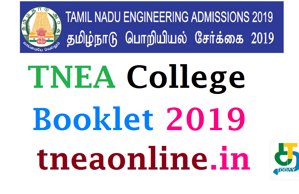 TNEA college booklet 2019 - TNEA ONLINE COUNSELLING