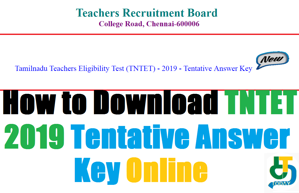 How to Download TNTET 2019 Tentative Answer Key Online