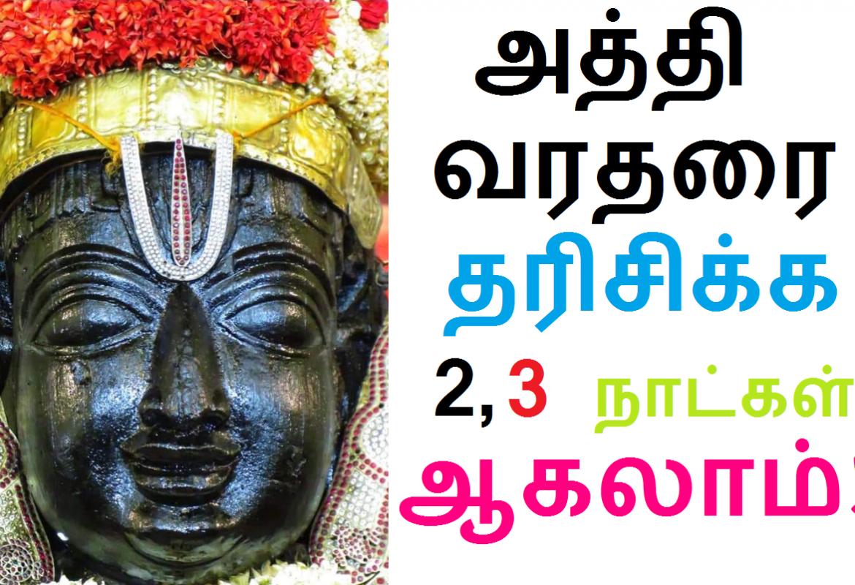 அத்தி வரதரை தரிசிக்க 2, 3 நாட்கள் கூட ஆகலாம்