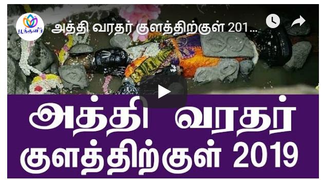 அத்தி வரதர் குளத்திற்குள் 2019