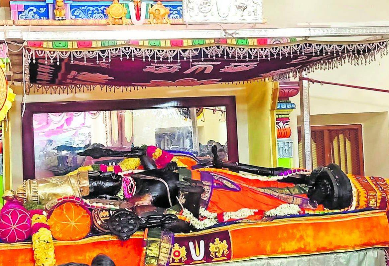 Athi Varadar Day 12 Darshan - அத்திவரதர் சயன கோல காட்சி - athi varadar day 12 image