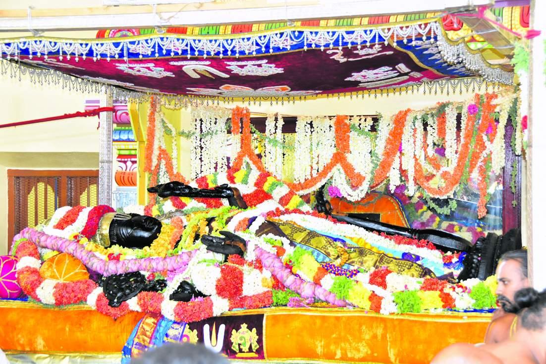 Athi Varadar Day 6 Darshan - அத்திவரதர் சயன கோல காட்சி - athi varadar day 6 image