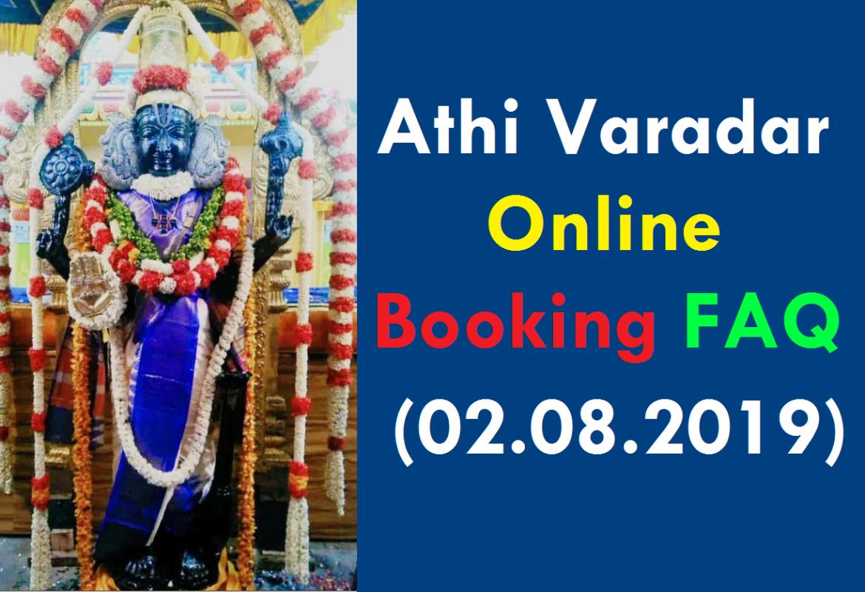 athi varadar online booking faq(02.08.2019)