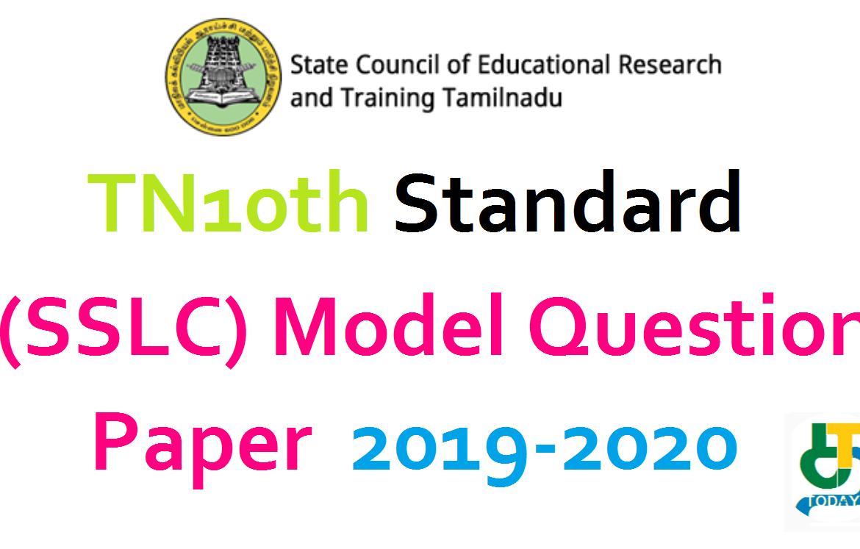 TN10th Standard (SSLC) Model question paper 2019-2020