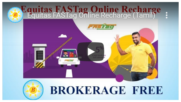 Equitas FASTag Online Recharge