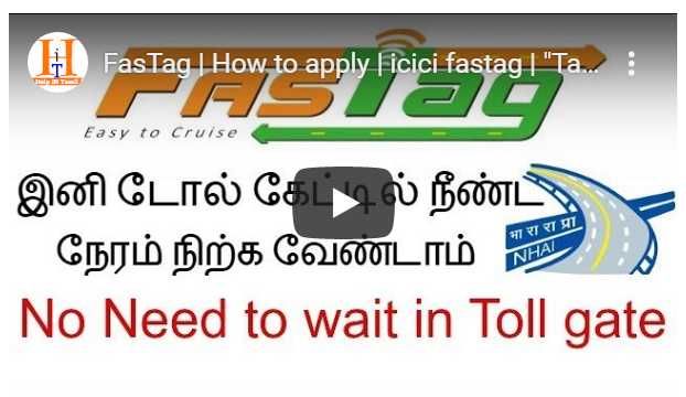 FasTag How to apply icici fastag