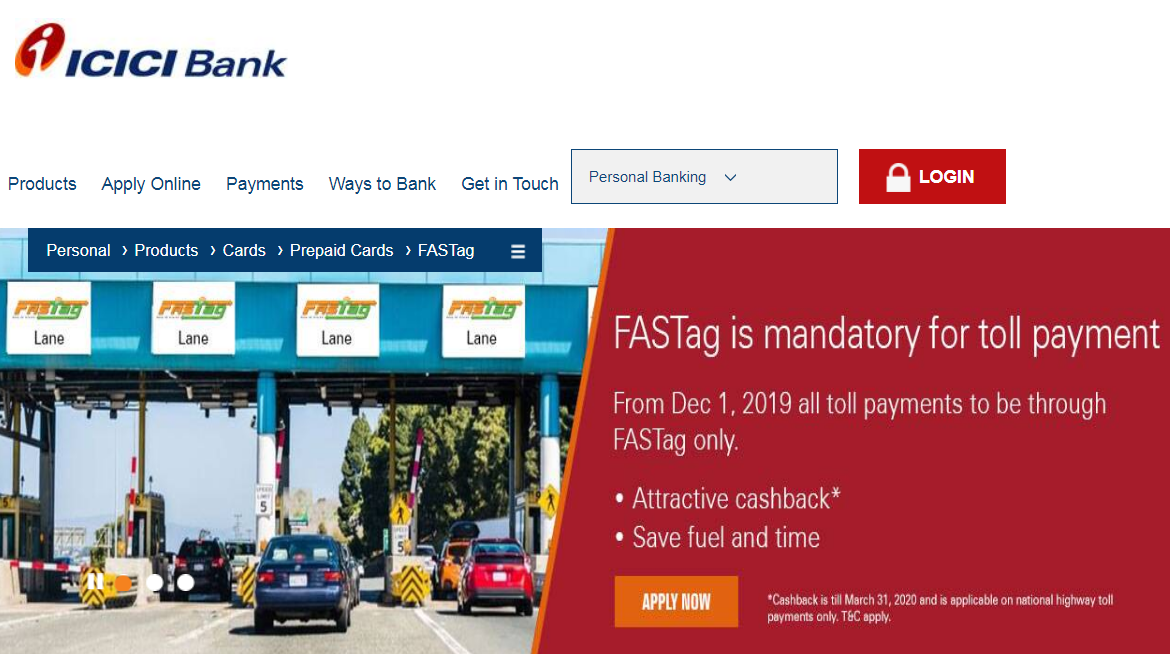 icici bank fastag