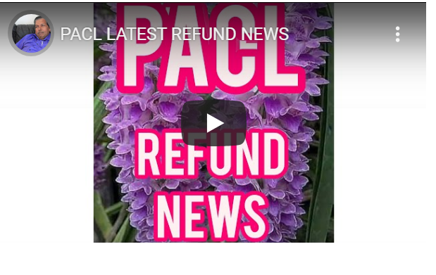 PACL LATEST REFUND NEWS