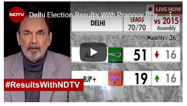 Delhi Election Results With Prannoy Roy