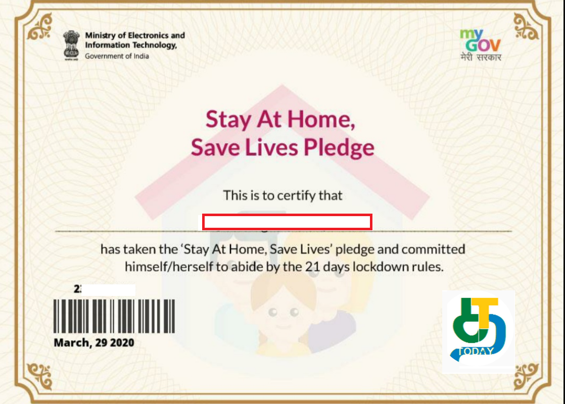 Stay At Home Save Lives Pledge