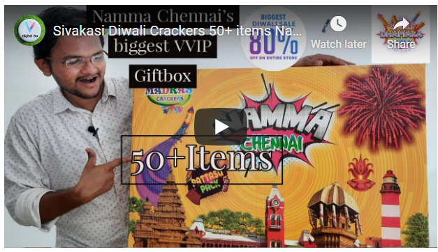 Sivakasi Diwali Crackers 50 items
