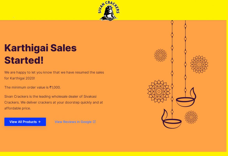 Sivan Crackers 80% Discount Karthigai Salesசிவன் கிராக்கர்ஸ்