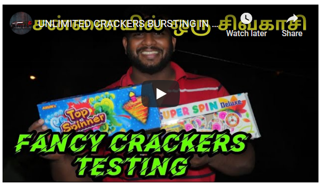UNLIMITED CRACKERS BURSTING IN CHENNAI