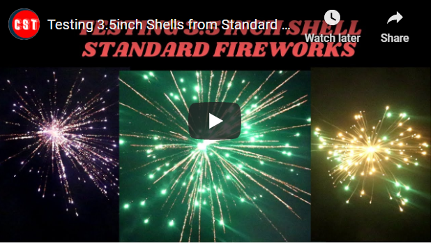 Testing 3.5inch Shells from Standard Fireworks