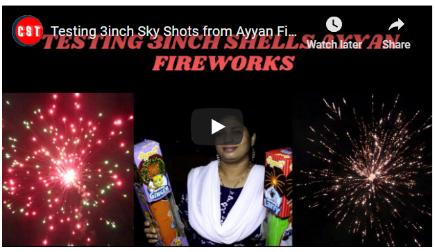 Testing 3inch Sky Shots from Ayyan Fireworks