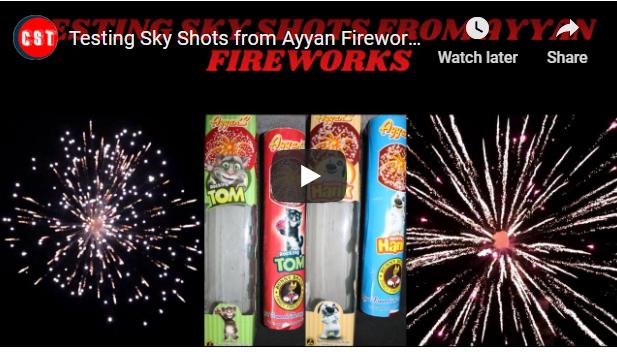 Testing Sky Shots from Ayyan Fireworks