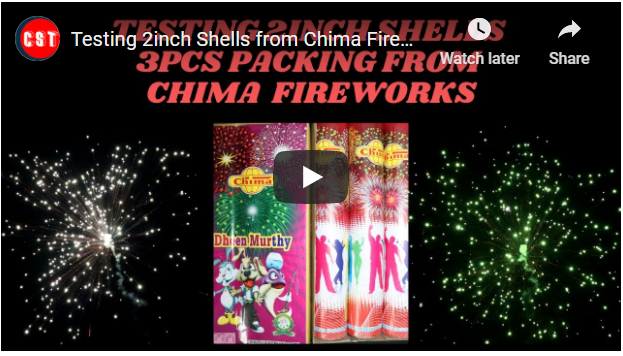 Testing 2inch Shells from Chima Fireworks