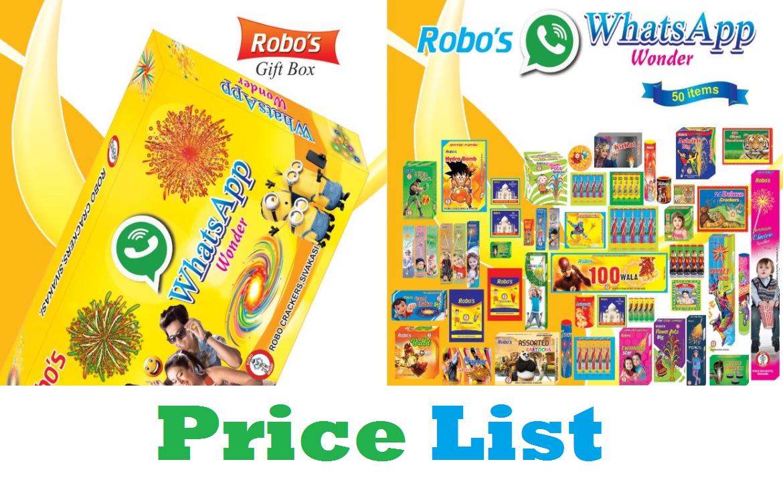 robo crackers gift box price list