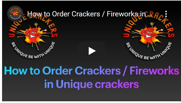 How to Order Crackers Fireworks in Unique Crackers Sivakasi