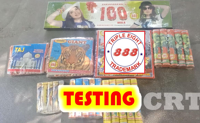 888 brand testing - saravanavel fireworks sivakasi